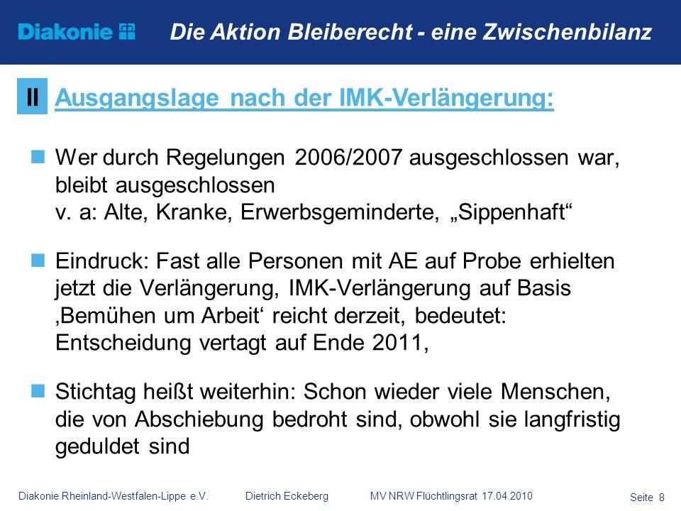 Ausgangslage nach der IMK-Verlängerung: