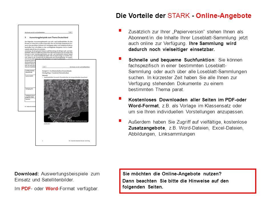 Die Vorteile der STARK - Online-Angebote