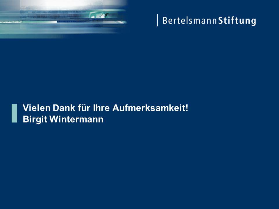 Vielen Dank für Ihre Aufmerksamkeit! Birgit Wintermann