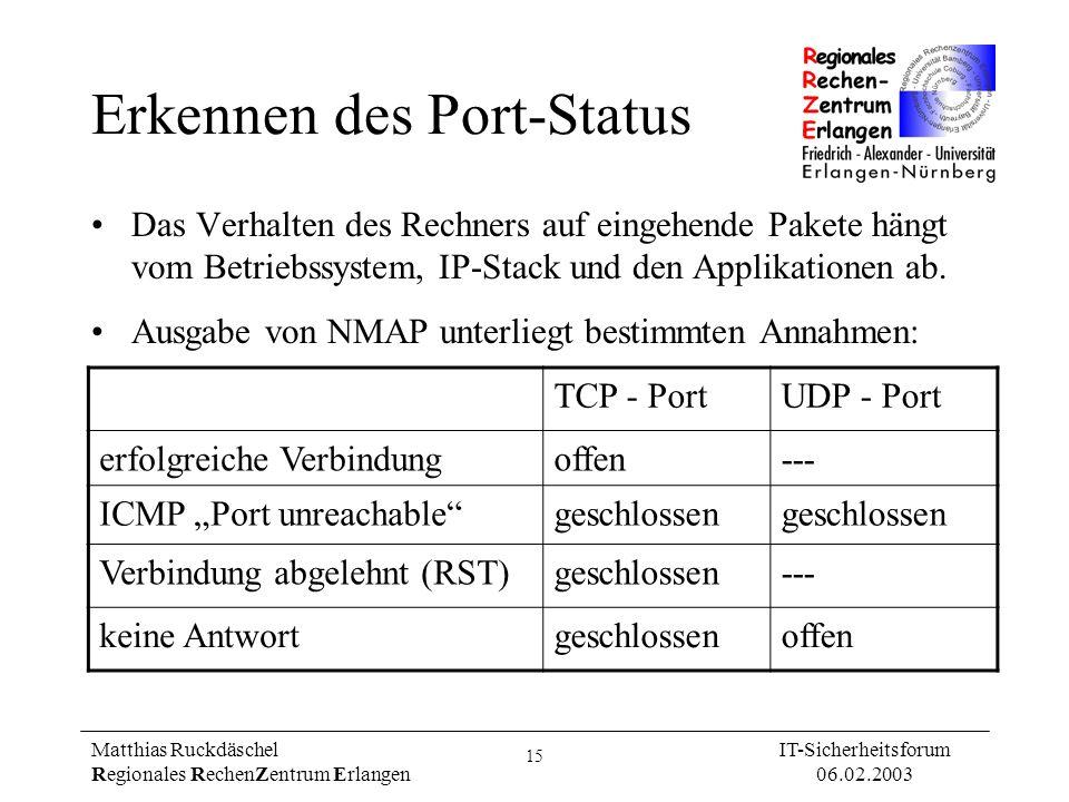 Erkennen des Port-Status