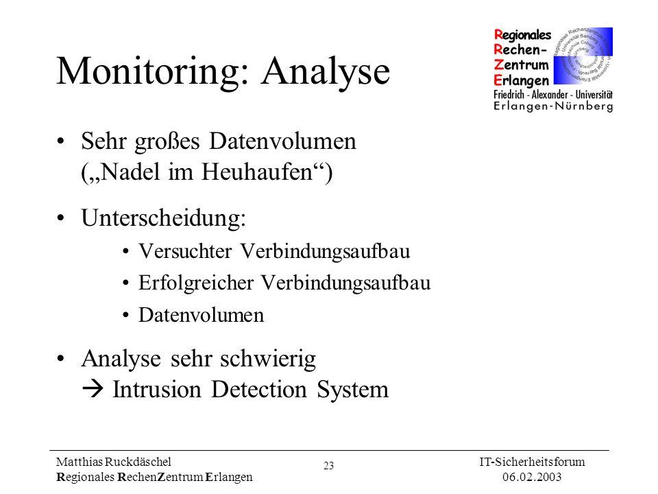 """Monitoring: Analyse Sehr großes Datenvolumen (""""Nadel im Heuhaufen )"""