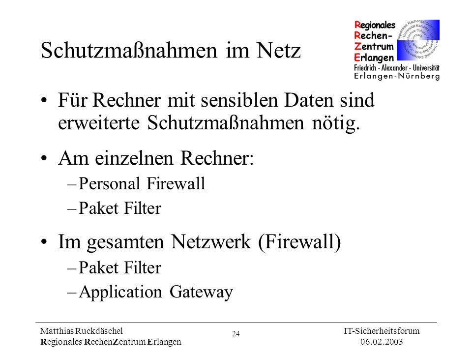 Schutzmaßnahmen im Netz