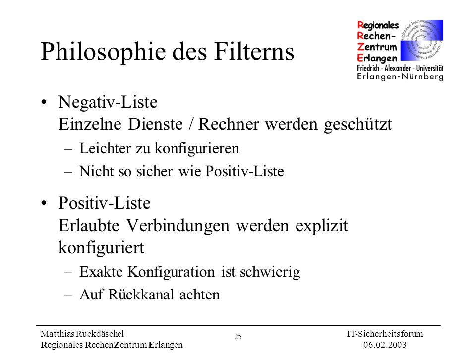 Philosophie des Filterns