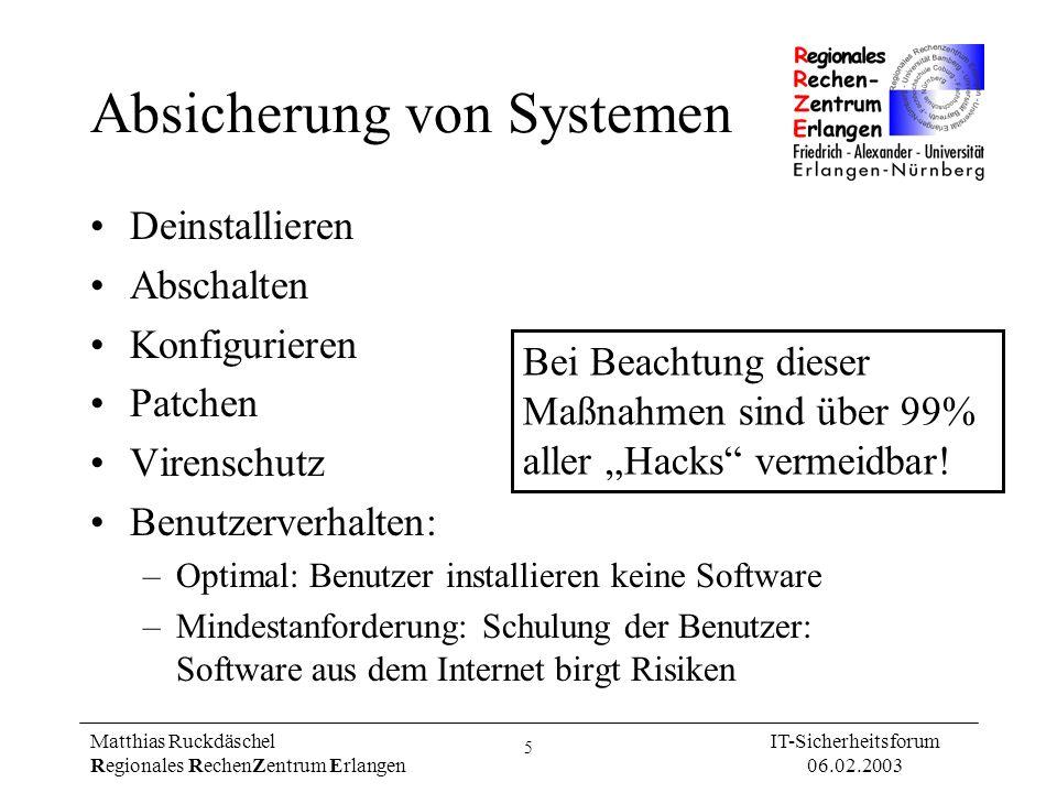 Absicherung von Systemen