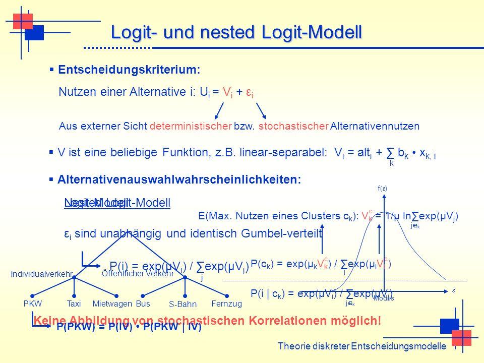 Logit- und nested Logit-Modell