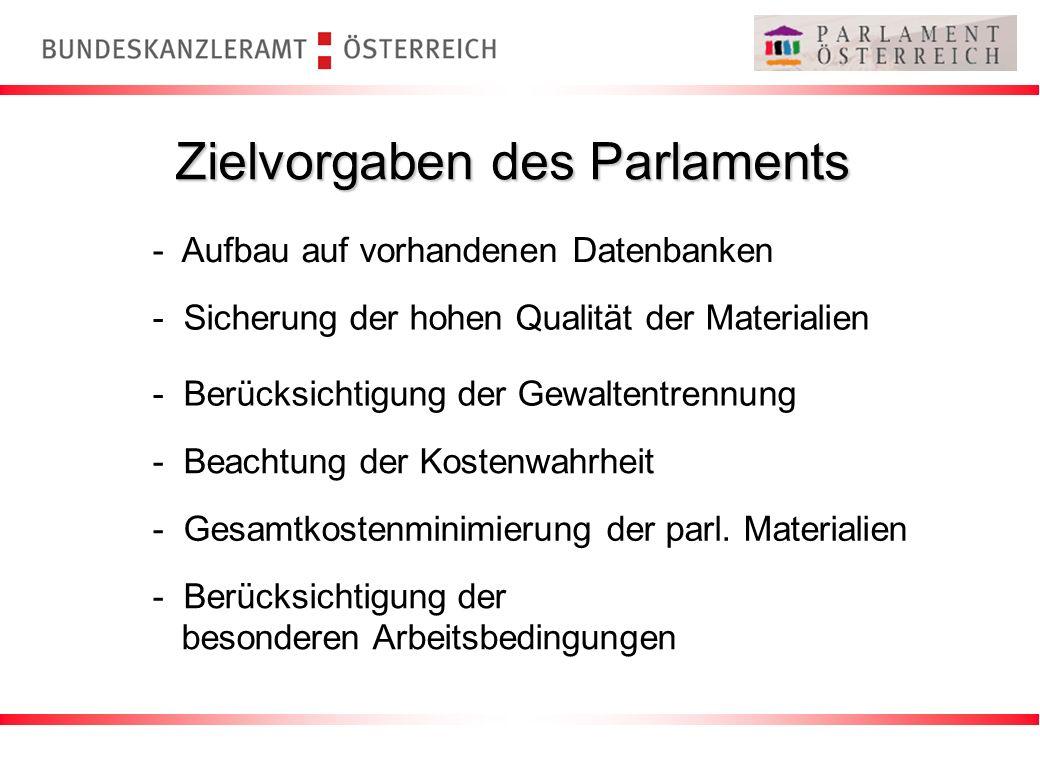Zielvorgaben des Parlaments