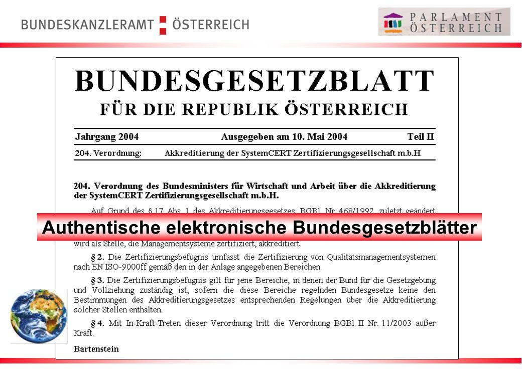 Authentische elektronische Bundesgesetzblätter