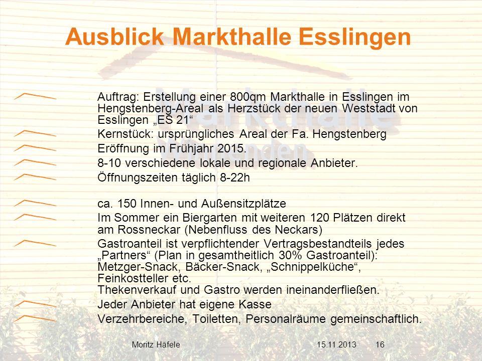 Ausblick Markthalle Esslingen