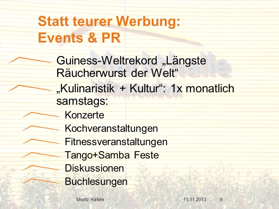 Statt teurer Werbung: Events & PR