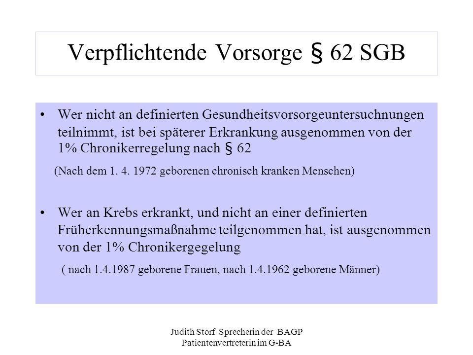 Verpflichtende Vorsorge § 62 SGB