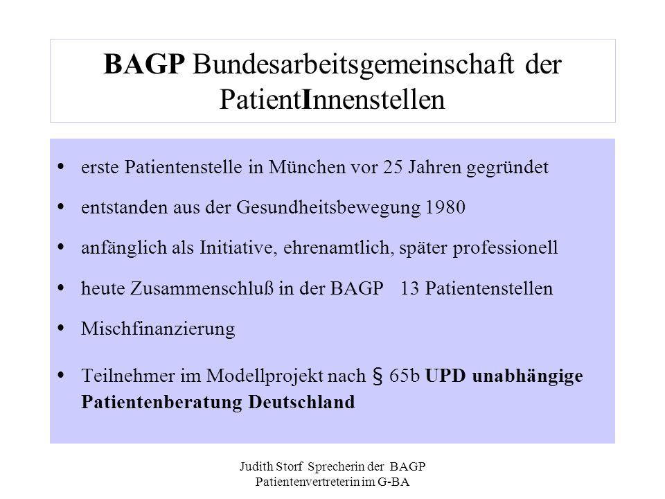 BAGP Bundesarbeitsgemeinschaft der PatientInnenstellen
