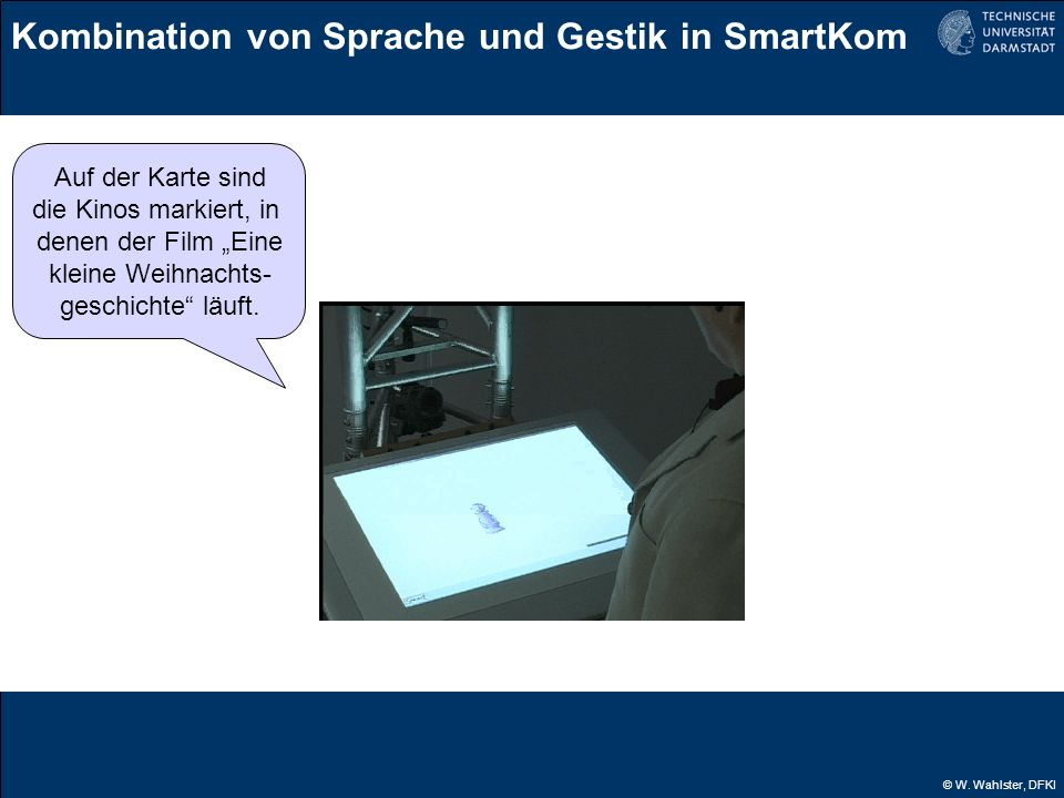 Kombination von Sprache und Gestik in SmartKom