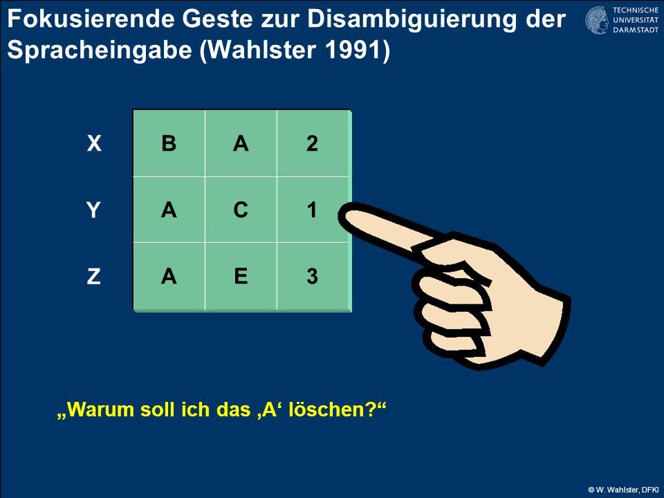 Fokusierende Geste zur Disambiguierung der Spracheingabe (Wahlster 1991)