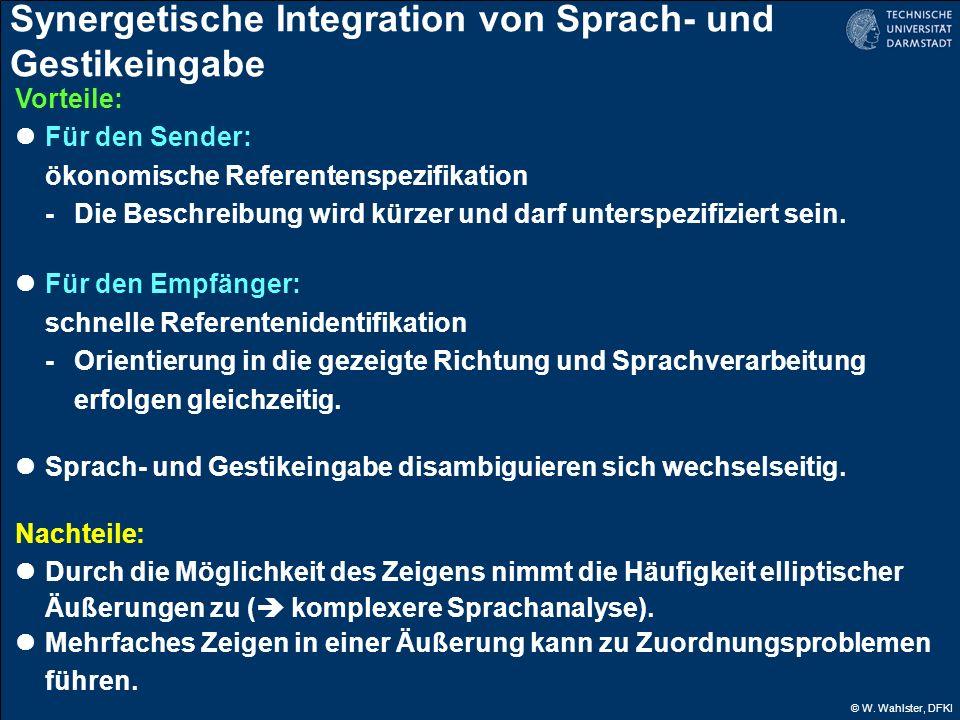 Synergetische Integration von Sprach- und Gestikeingabe