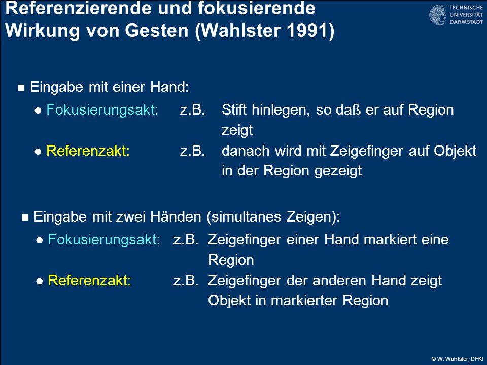 Referenzierende und fokusierende Wirkung von Gesten (Wahlster 1991)