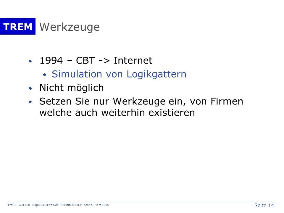 Werkzeuge 1994 – CBT -> Internet Simulation von Logikgattern