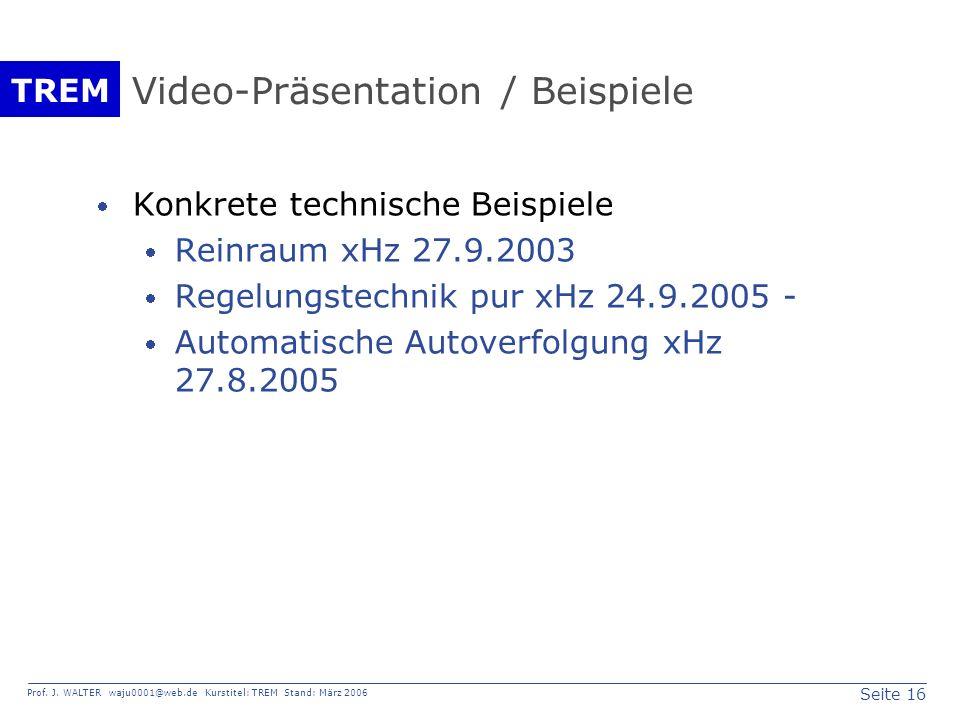 Video-Präsentation / Beispiele