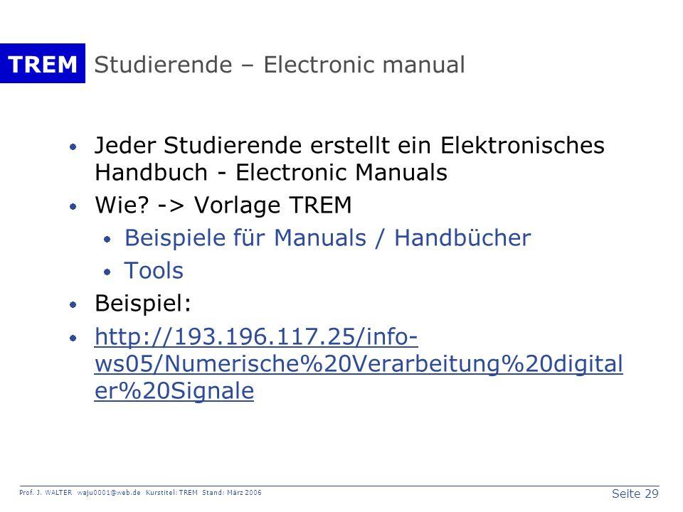 Studierende – Electronic manual