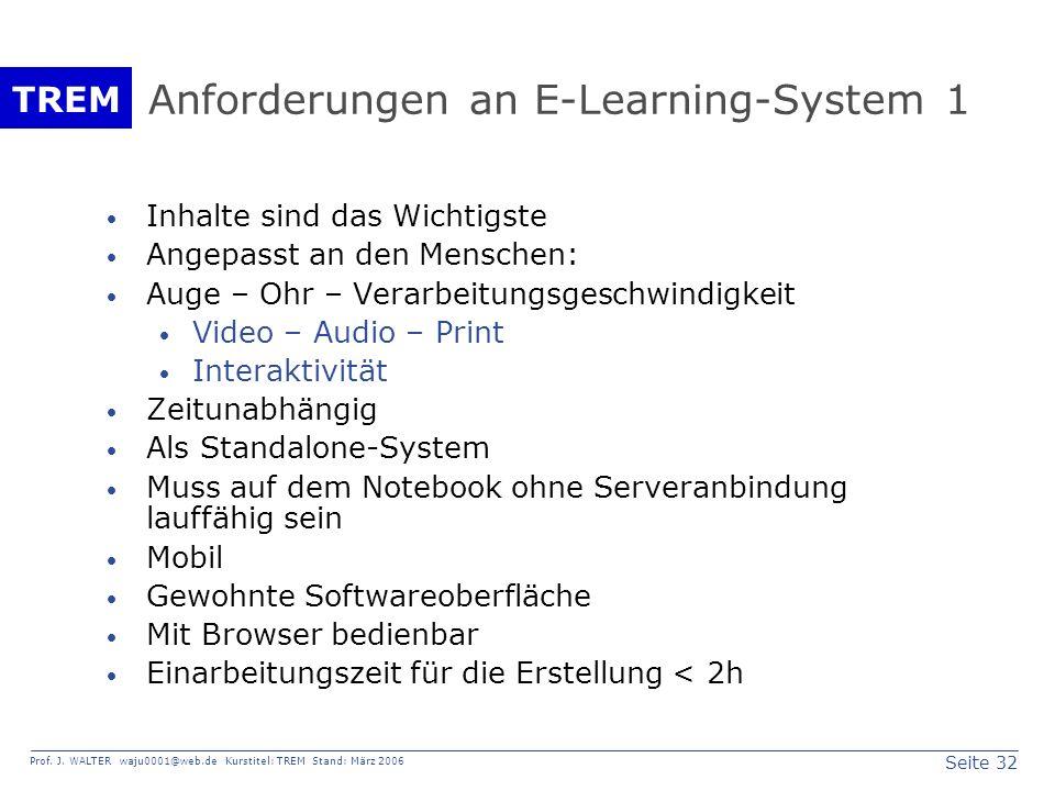Anforderungen an E-Learning-System 1