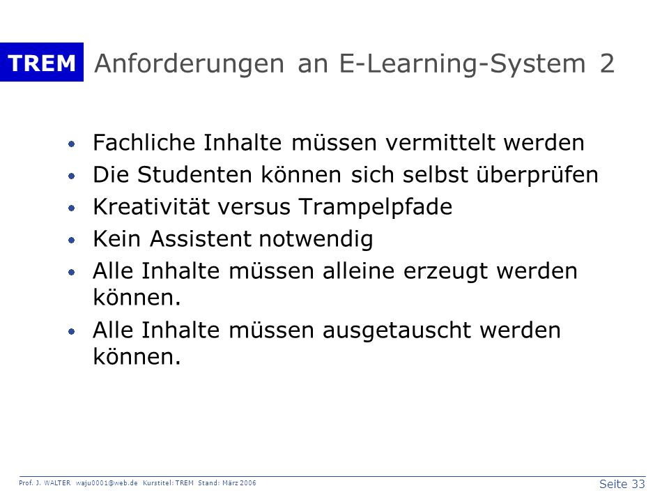 Anforderungen an E-Learning-System 2