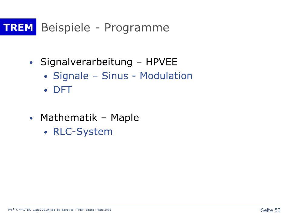 Beispiele - Programme Signalverarbeitung – HPVEE