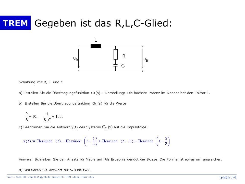 Gegeben ist das R,L,C-Glied: