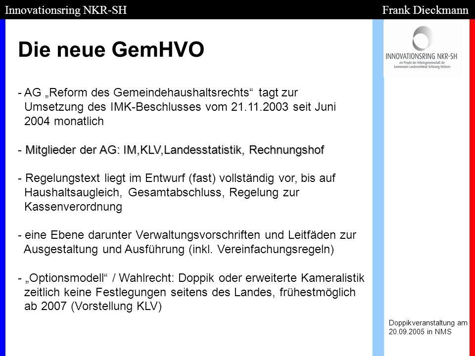 Die neue GemHVO Innovationsring NKR-SH Frank Dieckmann