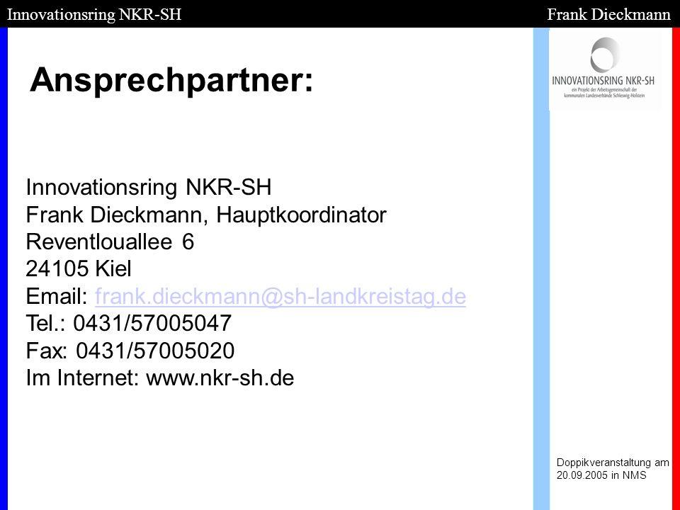 Innovationsring NKR-SH Frank Dieckmann