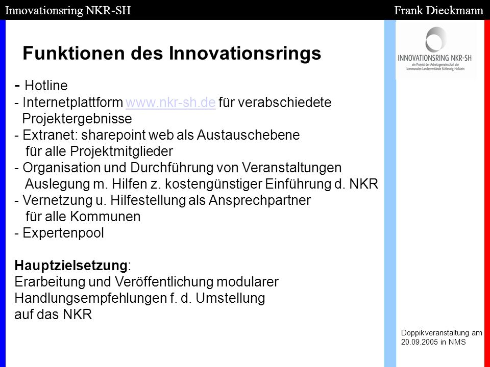 Funktionen des Innovationsrings