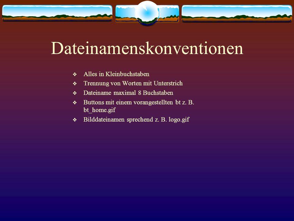 Dateinamenskonventionen