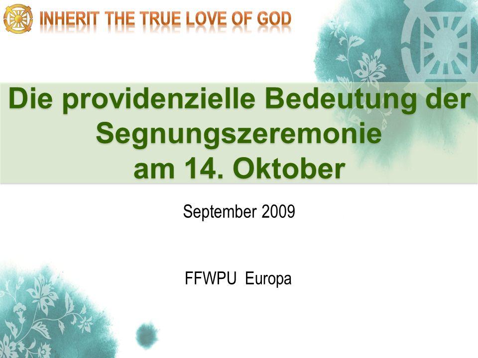 Die providenzielle Bedeutung der Segnungszeremonie am 14. Oktober