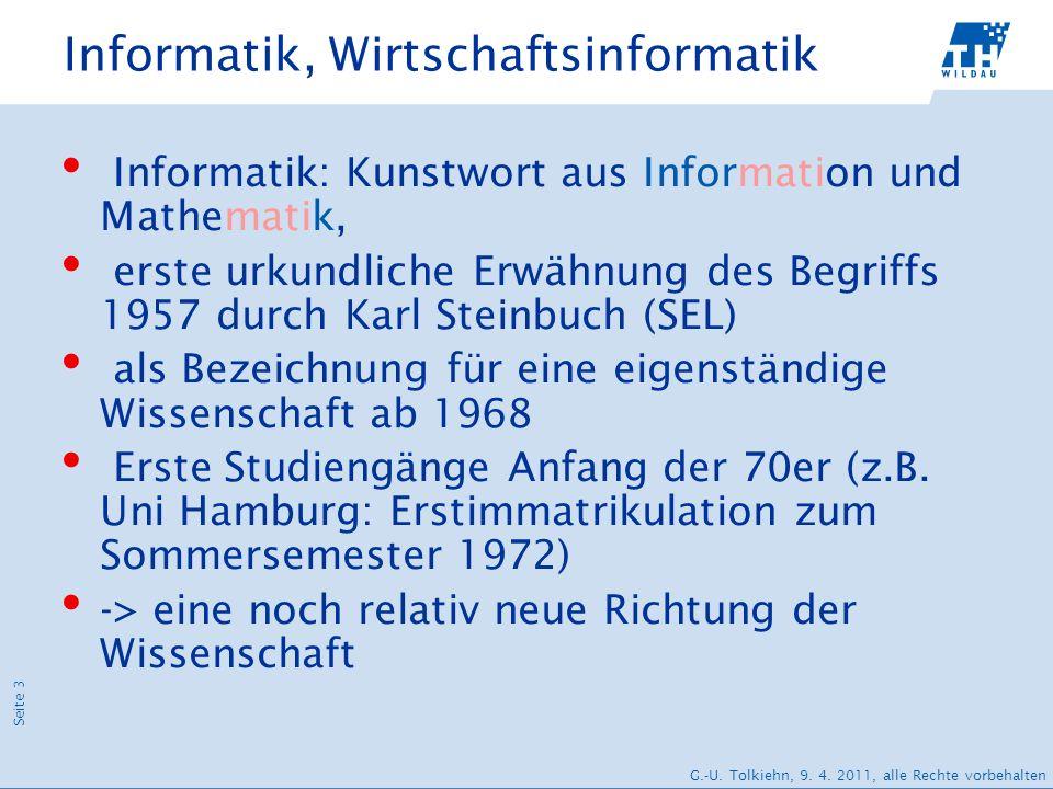 Informatik, Wirtschaftsinformatik