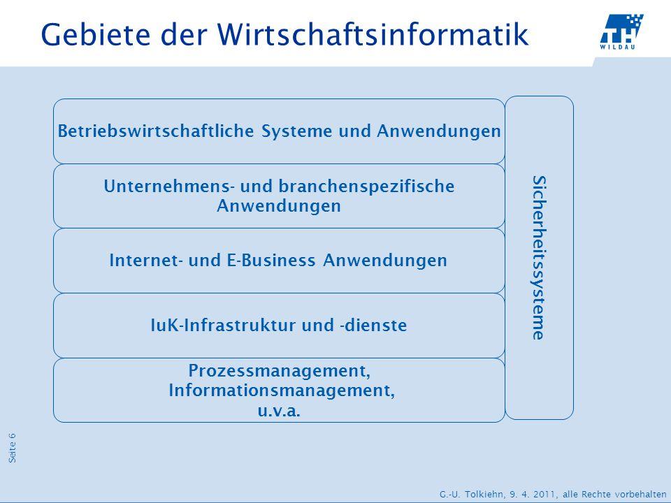 Gebiete der Wirtschaftsinformatik