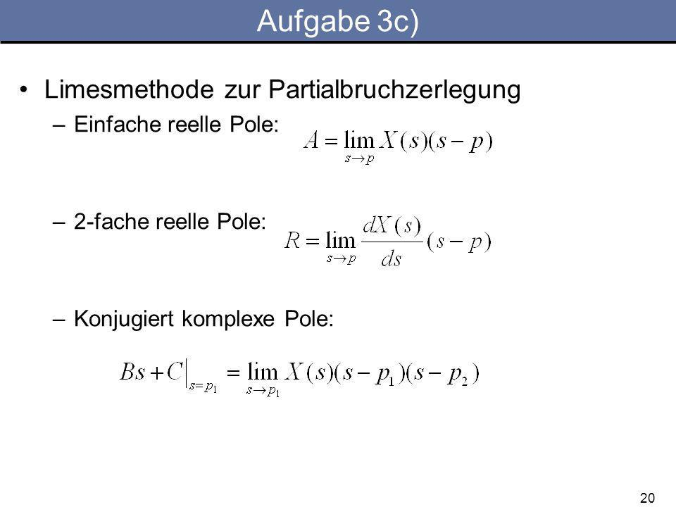 Aufgabe 3c) Limesmethode zur Partialbruchzerlegung