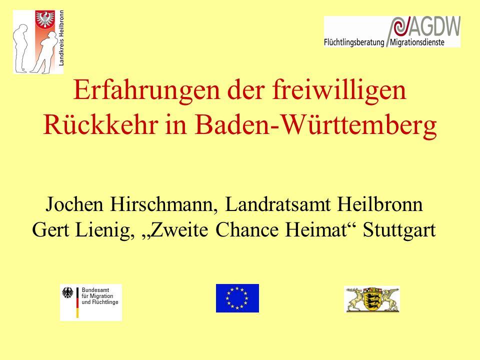 Erfahrungen der freiwilligen Rückkehr in Baden-Württemberg