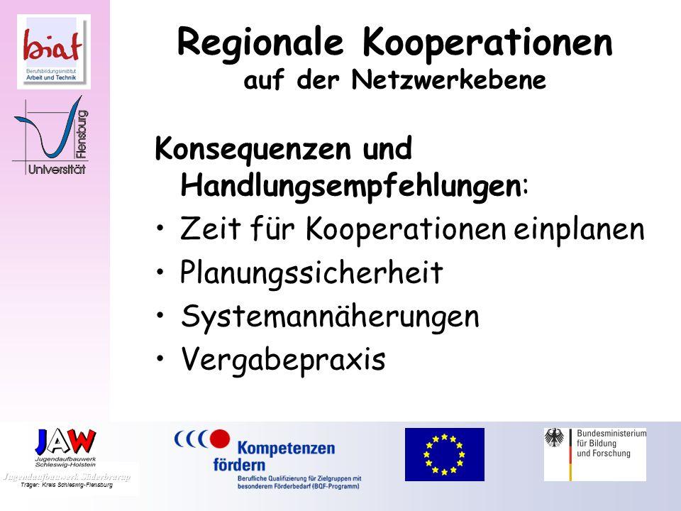 Regionale Kooperationen auf der Netzwerkebene