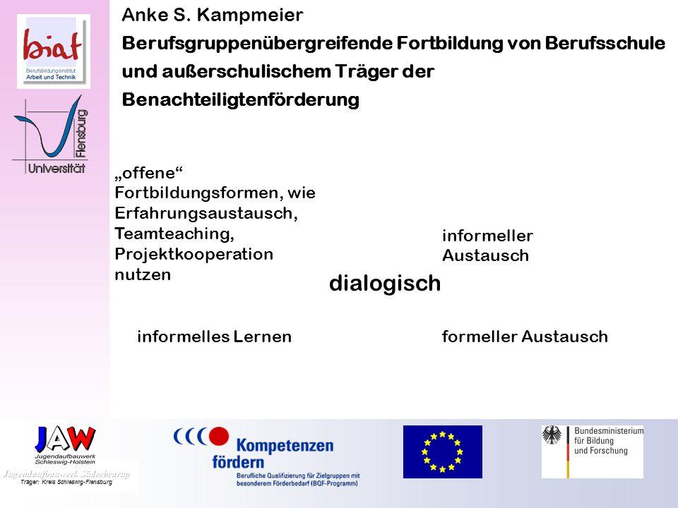 Anke S. Kampmeier Berufsgruppenübergreifende Fortbildung von Berufsschule und außerschulischem Träger der Benachteiligtenförderung