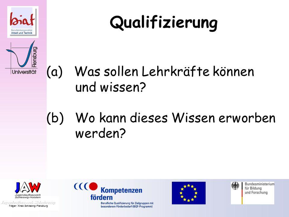 Qualifizierung (a) Was sollen Lehrkräfte können und wissen