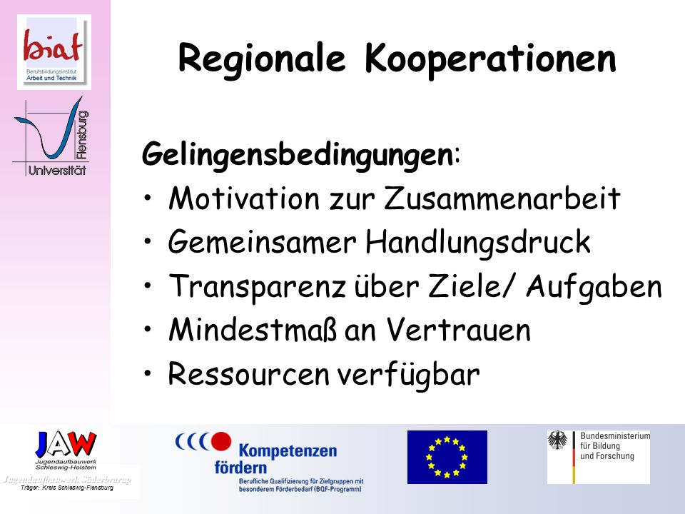 Regionale Kooperationen