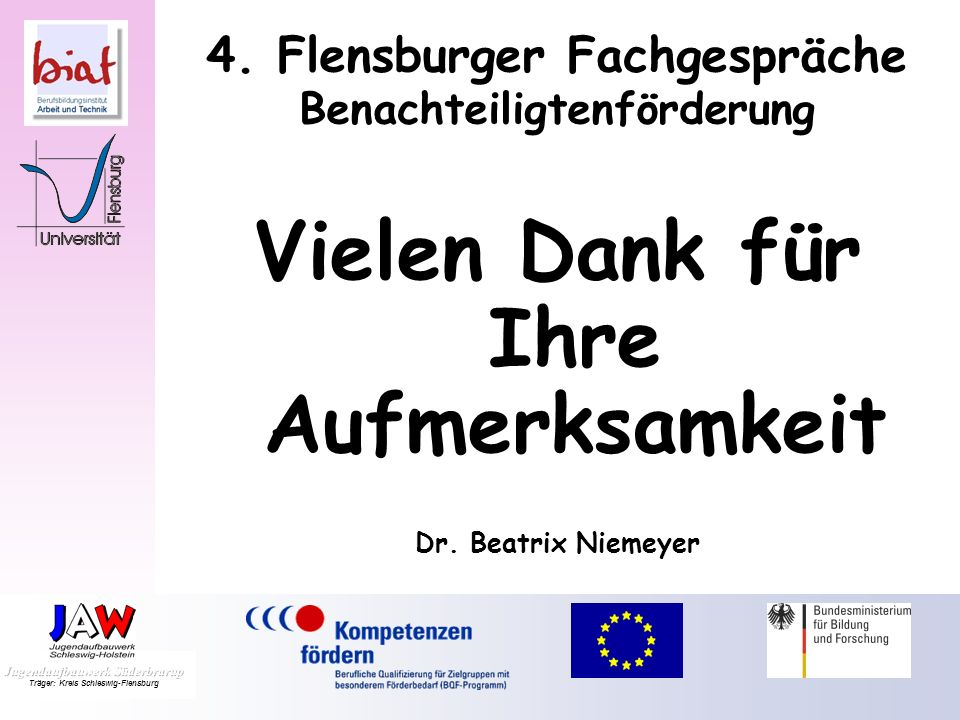 4. Flensburger Fachgespräche Benachteiligtenförderung