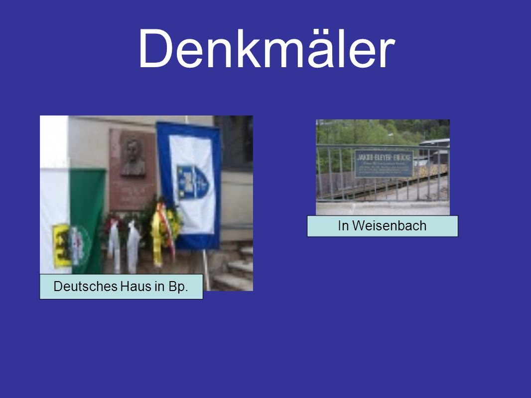 Denkmäler In Weisenbach Deutsches Haus in Bp.