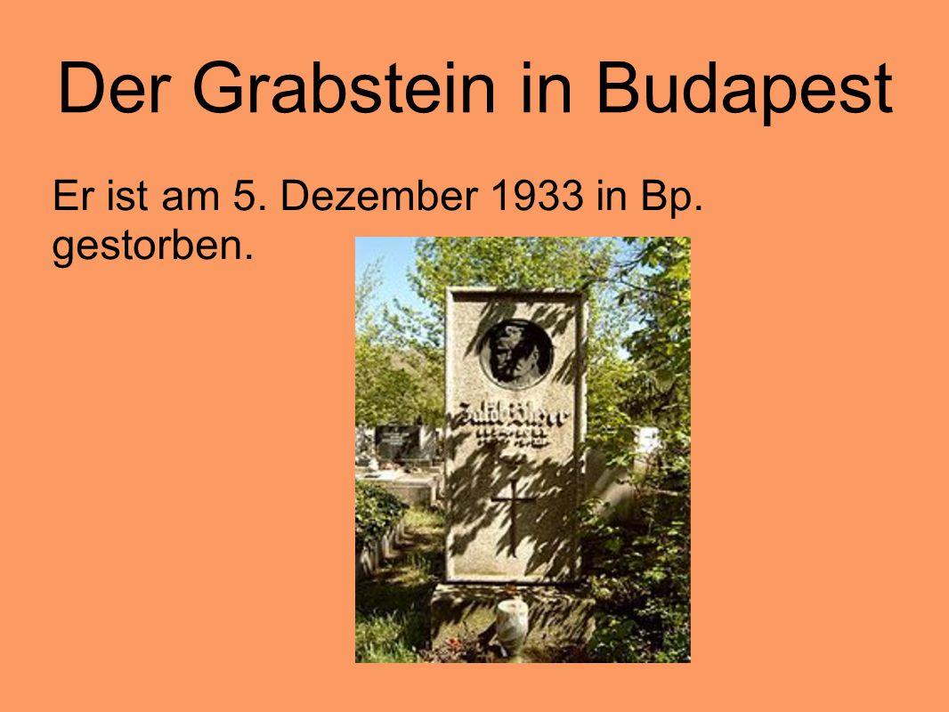 Der Grabstein in Budapest