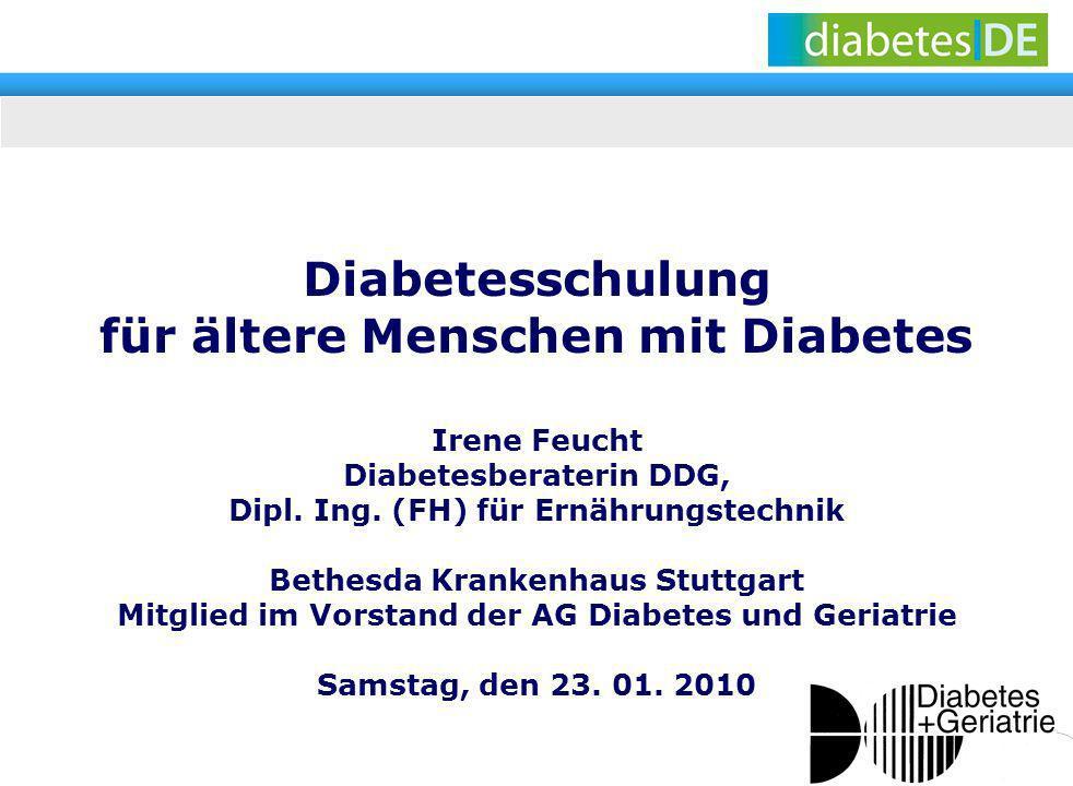 Diabetesschulung für ältere Menschen mit Diabetes