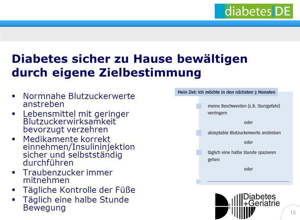 Diabetes sicher zu Hause bewältigen durch eigene Zielbestimmung
