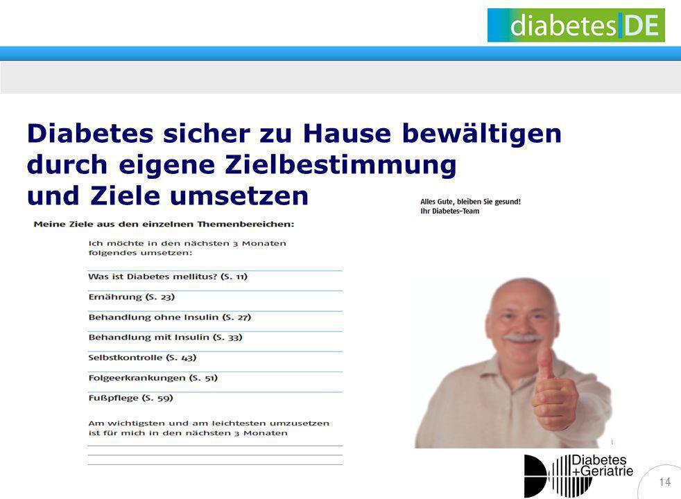 Diabetes sicher zu Hause bewältigen durch eigene Zielbestimmung und Ziele umsetzen