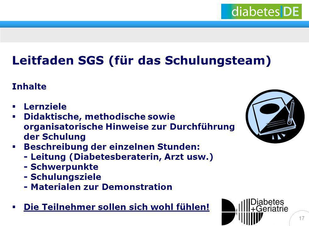 Leitfaden SGS (für das Schulungsteam)