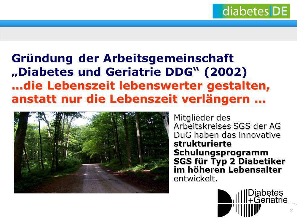 """Gründung der Arbeitsgemeinschaft """"Diabetes und Geriatrie DDG (2002)"""