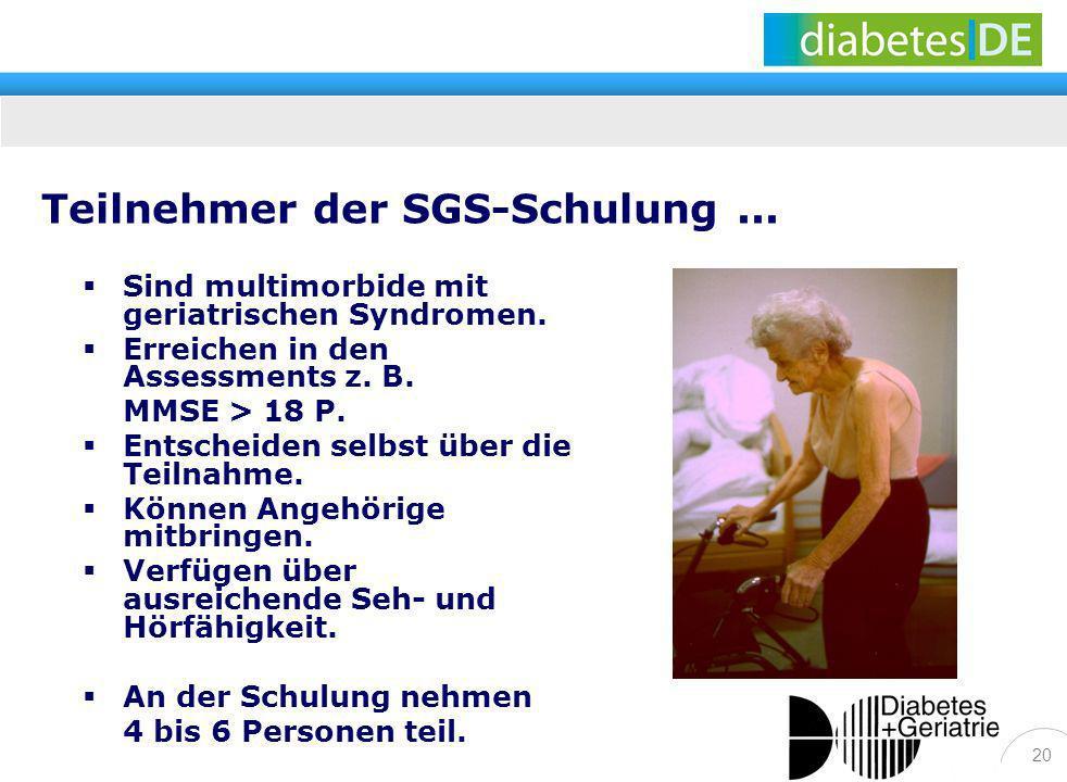 Teilnehmer der SGS-Schulung ...