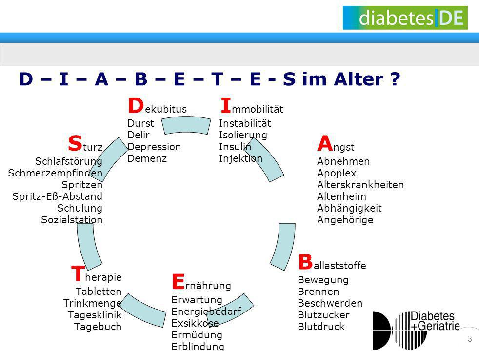 D – I – A – B – E – T – E - S im Alter