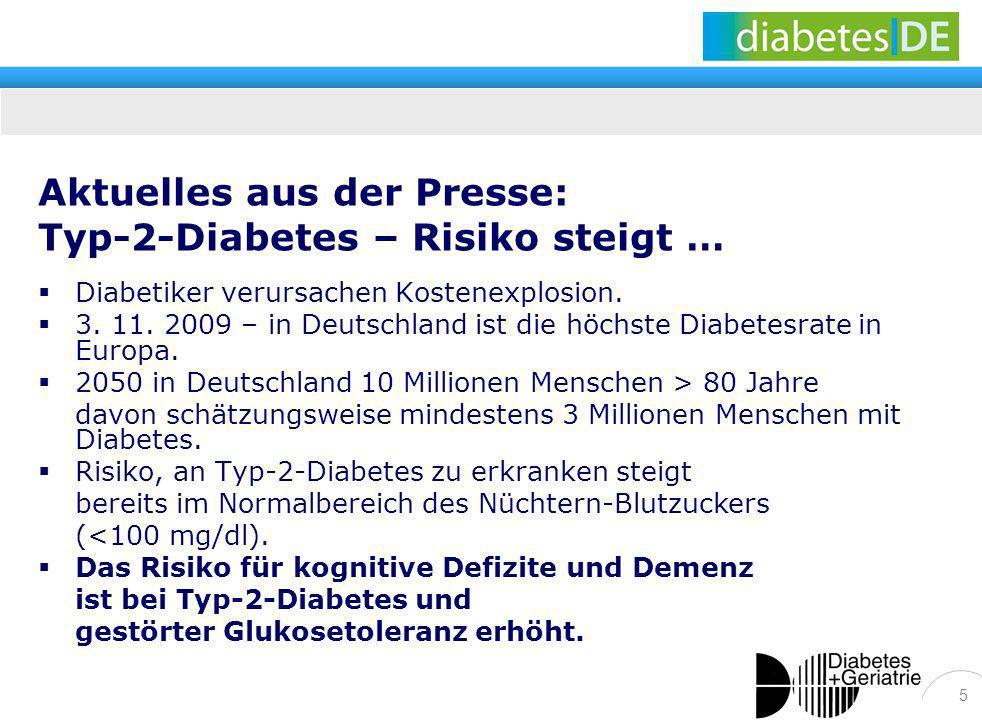 Aktuelles aus der Presse: Typ-2-Diabetes – Risiko steigt …